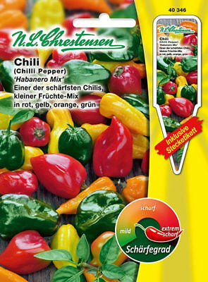 Chilli Habanero Mix, Seed, Capsicum Chinense, Chilli, Chrestensen, Sn