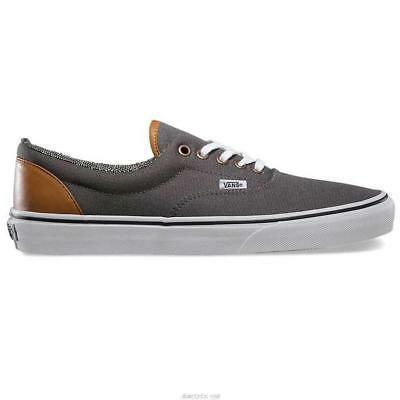 bf1b83fb3c VANS Era (C L) Pewter Tweed Canvas Leather Men s Skate Shoes Sneakers VN