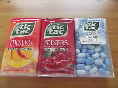 Tic Tac MIXERS SWEETS 49g PEACH & LEMONADE, CHERRY & COLA, MINT RUSH NEW &SEALED