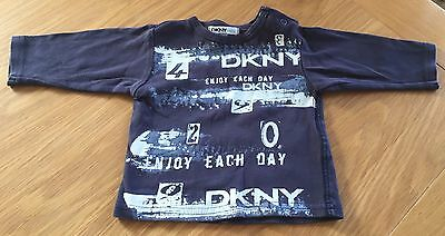 Baby Boys DKNY Long Sleeved Top Size 3 Months