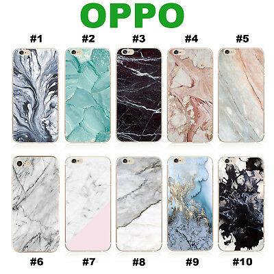 OPPO R11s R9s Plus F1S A57 A73 A77 Case Marble Pattern Soft Jelly Phone Cover