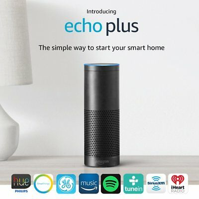 All New 2017 Amazon Echo Plus with built-in Hub + Philips Bulb Included - Black