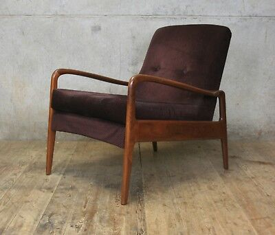 Vintage Mid Century Greaves and Thomas Armchair Chair Danish Style
