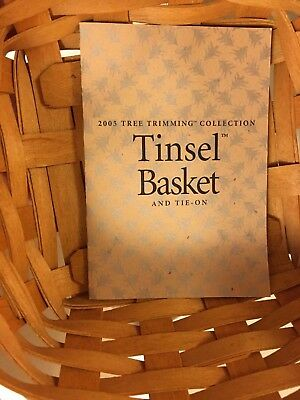 "Longaberger 2005 Tree Trimming Basket:  ""Tinsel"""
