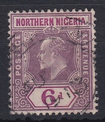 NORTHERN NIGERIA 1905 MCA 6d FINE USED CHALK PAPER CAT £55