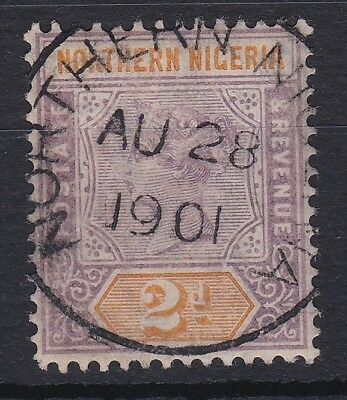 Northern Nigeria 1900 Wmk Ca Qv Sg 3 Fine Used Cat £60