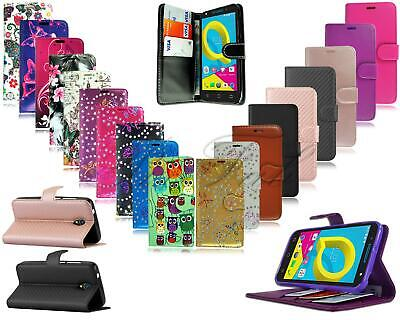 For Alcatel U5 HD 5047Y New Stylish Black Leather Luxury Wallet Phone Case Cover