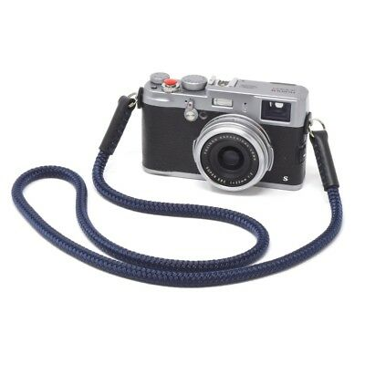 Silky Cord / Rope Leather Camera Neck Strap, 40in/102cm, Handmade by Cordweaver