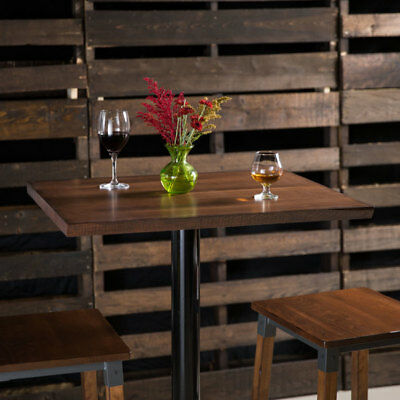 """24"""" x 30"""" Brown Solid Wood Live Edge Table Top with Antique Walnut Finish"""