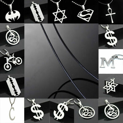 Unisex Men's Pendant Necklace Fashion Silver Stainless Steel Chain Jewelry Gift