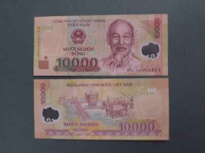 Vietnam 10000 Dong 2009 Polymer Uncirculated Banknote.