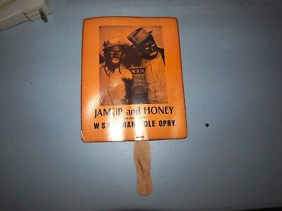 """Vintage Advertising Hand Fan """"JAMUP and HONEY  WSM Grand Ole Opry"""
