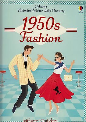 Usborne Historical Sticker Dolly Dressing 1950s Fashion BRAND NEW BOOK P/B 2014