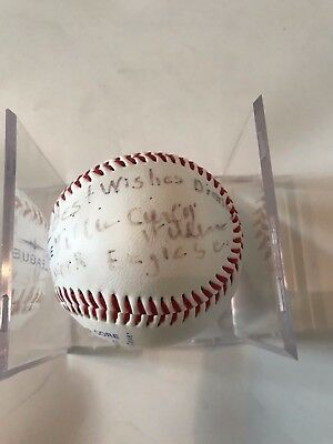 """Willie """"Curly"""" Williams (Negro League) signed ball"""