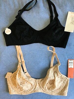 NEW 2 Nursing Bras Gilligan & O'Malley  Underwire Unlined 34C
