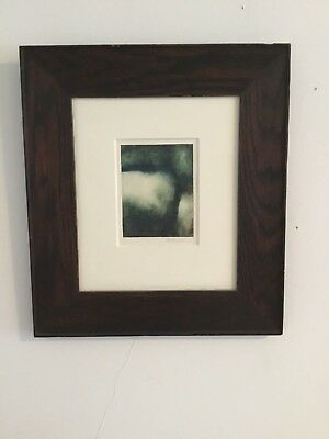 SIGNED MARYBETH THIELHELM one of a kind monotype in EARLY 20th CENTURY FRAME