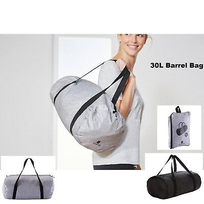 30L Fold Down SPORTS Fitness Football Gym Barrel Bag Bags Holiday Duffle Holdall