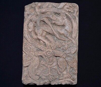 Ancient Viking Gràve Monument. Sepulchral Slab of Norse Warrior, c 950-1000 AD.