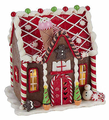 christmas decorations led lighted gingerbread house w candy ice cream - Christmas Decorations Gingerbread