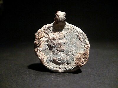 Drc - Lot Of 2 Roman Provincial Lead Tesserae And A Pendant With Emperor