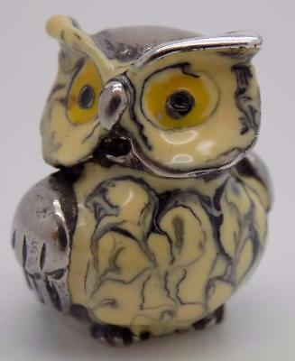 Vintage Sterling Silver 925 Italian Made RARE Owl Miniature, Figurine, Stamped