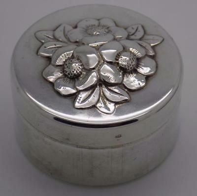 Vintage Solid Silver Italian Made Beautiful Deep Pill / Snuff Box, Stamped
