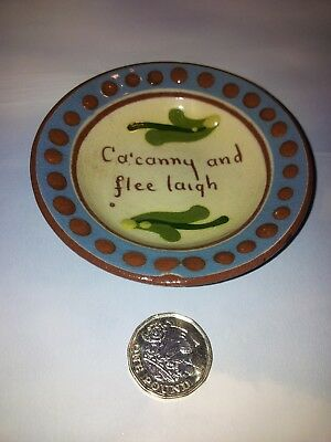 small Longpark Devon Motto ware dish 'Ca'canny and flee laigh'