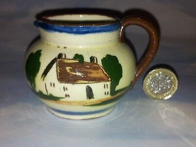 'Hope on hope ever' small Devon motto ware cream jug