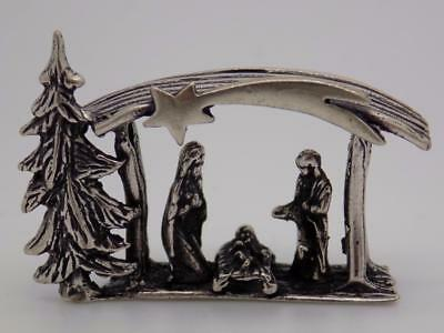 Vintage Solid Silver Italian Made Nativity Miniature, Figurine, Stamped