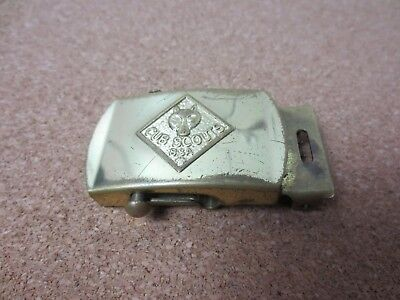 VINTAGE Retro CUB SCOUT Scouts BSA BELT BUCKLE SOLID BRASS Made in USA (PG1781)