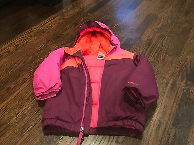 North Face Girls Hooded Jacket Coat Bambin Toddler Size 3T