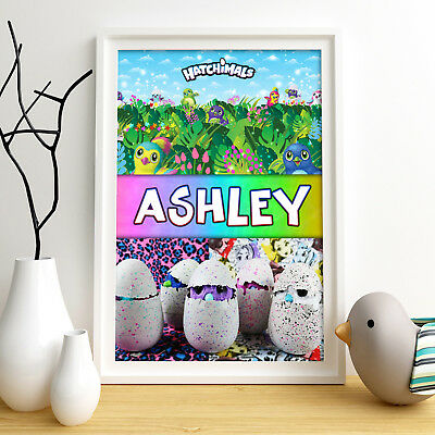 HATCHIMALS Personalised Poster A4 Print Wall Art Custom Name ✔ Fast Delivery ✔