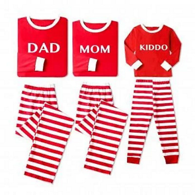 PatPat Jolly Christmas Family Striped Pajamas Red Youth Size 10-12 NEW