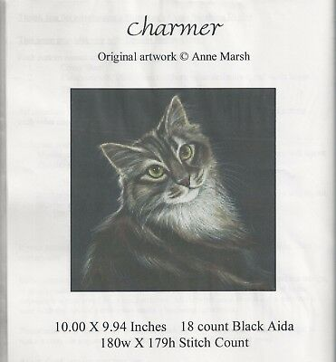 Charmer Cat Counted Cross stitch Pattern