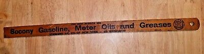 SOCONY Standard Oil Advertising Gas Gauge Measuring Stick FORD 1909 ATWATER KENT