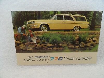 1965 Rambler Classic 770 Cross Country SW New Car Dealer Promotional Postcard