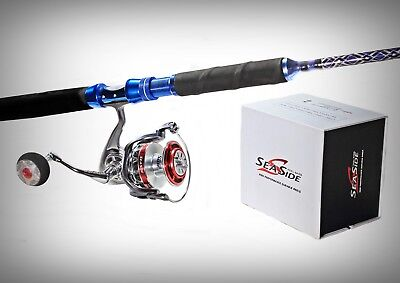 "5'6"" SeaSide Big Game Combo - 25KG SW-LY6000 7BB Reel + 37Kg JGS5660 Casting Rod"