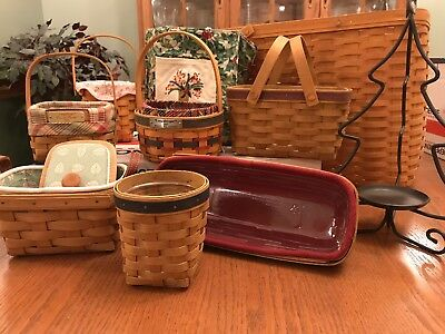 Longaberger Baskets and more - Lot of 10 items LOOK!!