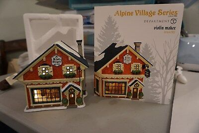 Dept 56 Alpine Village Violin Maker # 4044782