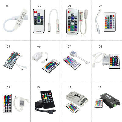 RF IR Remote Wireless Music Controller Dimmer For 3528 5050 RGB LED Strip Light