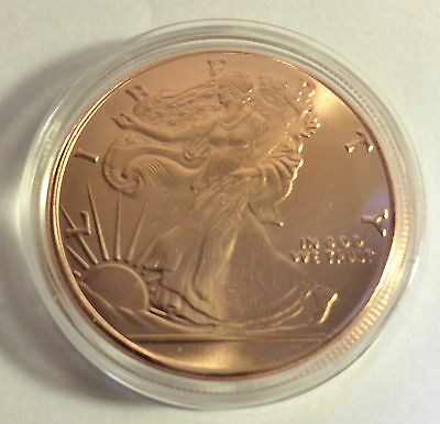 2014 U.S.A. Liberty/Eagle 1 OZ Pure 999.0 Copper Bullion Coin (a)