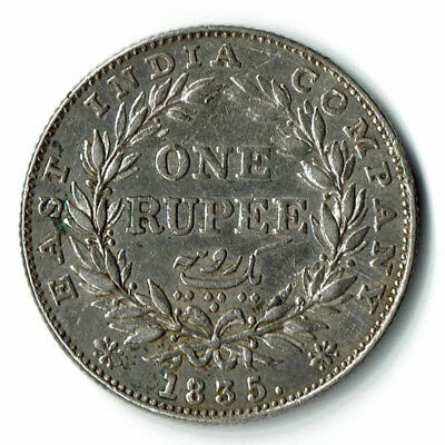 1835 Rupee William IV XF+ Silver Scarce Date and great condition for coin
