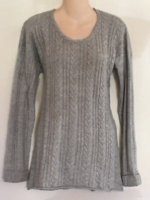 Oh Baby Grey Cable Knit Maternity Sweater, New, Large