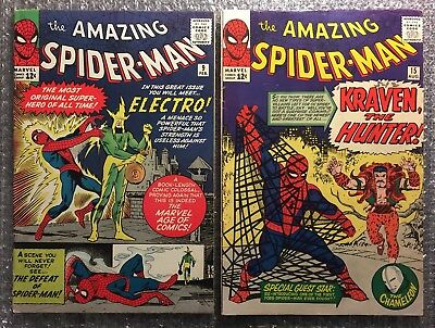 Amazing Spider-Man #9 (1ST ELECTRO) & #15 (1ST KRAVEN THE HUNTER) SILVER AGE LOT