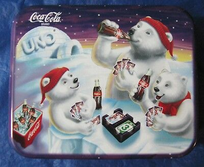 Coca Cola 1998 Limited Edition Uno Collectible Tin ***No Cards, Case Only***