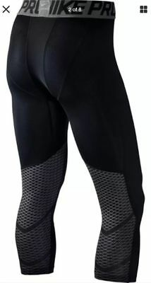 Nike Pro Cool Boys Compression Training Tights Size M XL Black Gamme Hypercool