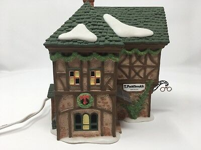 """Department 56 Dickens' Village Series """"T. Puddlewick Spectacle Shop"""""""