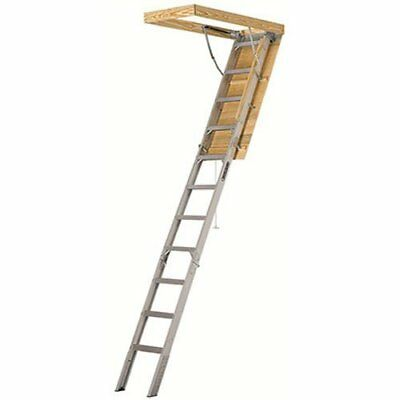 Louisville Ladder AA2510 Elite Aluminum Attic Ladder IAA 25-1/2-inch x 5