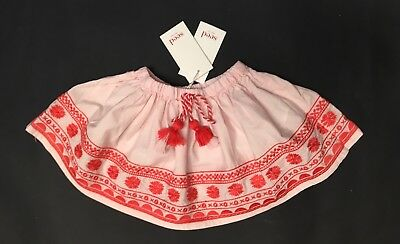 NEW Seed Heritage Girl Pink Embroidered Skirt Size 2 years old 50% OFF RRP!💰