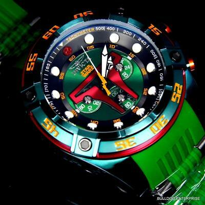 Invicta Star Wars Boba Fett 52mm Chronograph Limited Edition Green Watch New